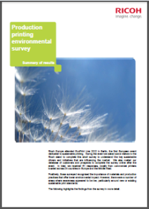 Ricoh PP Environmental printing survey Feb 2013