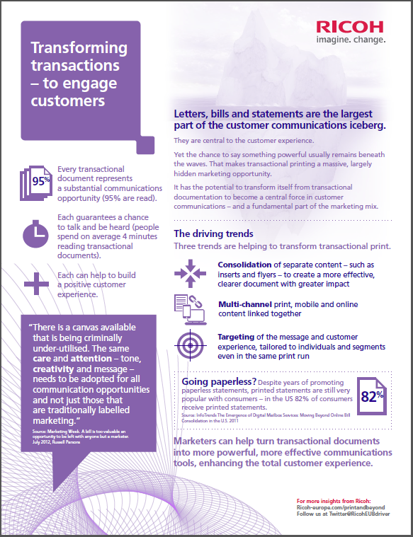Inforgraphic - Transforming transactions to engage customers