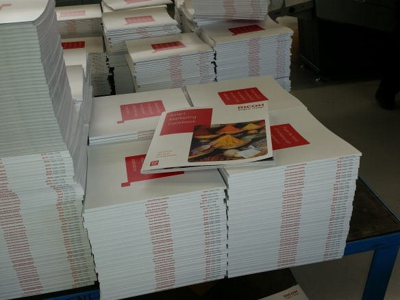 Smart Marketing Cookbook being prepared for Hunkeler