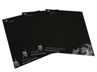 Letterheads using white toner on black paper