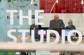 The Studio - where visitors could discuss software